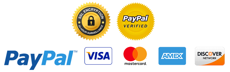 we accept major credit cards and paypal - logo